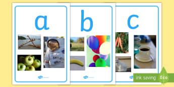 Alphabet Photo Display Posters - alphabet, posters, display posters, themed posters, images, pictures, key words, posters for display, photo posters, photo