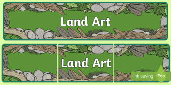 Land Art Display Banner - land art, display banner, display, banner, land, art, art and design