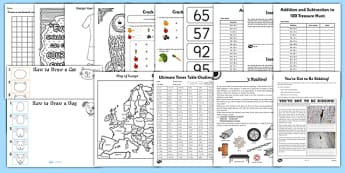 KS2 Wet Play Activity Pack