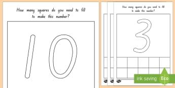 Representing Number Counting Activity Sheet - New Zealand Back to School,numbers,recognition,counting,matching,number skills,visual,group,individu