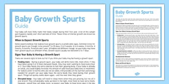Guide to Your Baby's Growth Spurts - Baby, grow, growth spurt