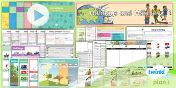 PlanIt - French Year 4 - Holidays and Hobbies Unit Pack - french, languages, grammar, weather, seasons, holidays, sports, hobbies