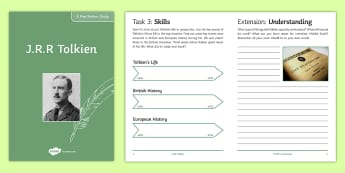 J.R.R. Tolkien Author Study Pack - Tolkien Day, J.R.R Tolkien, The Hobbit, Lord of the Rings, fantasy fiction, fiction, author study, w