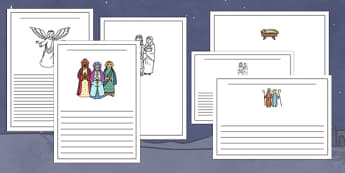 The Nativity Story Writing Frames - nativity, writing frames