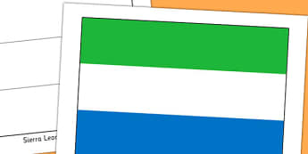 Sierra Leone Flag Display Poster - countries, geography, flags