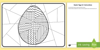 Whole Class Large Easter Egg Art Activity Sheet - easter egg, easter, art activity, class activities, easter egg, whole class easter activities, ks1 e - easter egg, easter, art activity, class activities, easter egg, whole class easter activities, ks