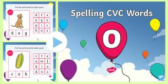 CVC Words O Spelling PowerPoint - CVC Words O Spelling PowerPoint - CVC words, spellings, powerpoint, cvcwords, speeling, cvc wods, sp