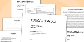 GCSE English Language Exam Paper 1 EDUQAS - gcse, english, language, exam, paper, eduqas