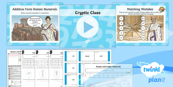 PlanIt Y4 Number and Place Value Lesson Pack Roman Numerals (1) - arabic numerals, number system, converting numbers, numbers up to 100, subtractive form