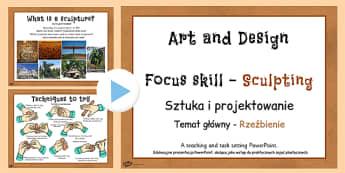 KS2 Art Sculpture PowerPoint Polish Translation - polish, art, sculptures, powerpoints