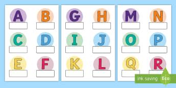 Alphabet Themed Self Registration Labels - Alphabet Themed Self Registration Labels - alphabet, labels, aplhabet, aphabet, alphablet, alpahabet