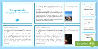 Leseverständnis üben Kerngedanke : DIN A4 Karteikarten - Lesen, Leseverstehen, Bücher, Buch, Deutsch, logisches Denken, Hauptgedanke, Grundidee, Hauptidee,