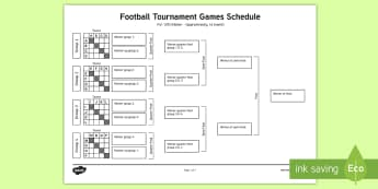 KS1 Football Tournament Schedule Adult Guidance - KS1, Key Stage 1, Year 1, Y1, Year 2, Y2, Football, Tournament, Sport, Exercise, Team Games, Attacki