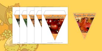 Banderitas de fotos de exposición otoño