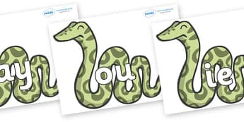 Phase 5 Phonemes on Snakes - Phonemes, phoneme, Phase 5, Phase five, Foundation, Literacy, Letters and Sounds, DfES, display