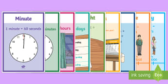 Units Of Time Display Posters - units of time, display, poster, sign, units, unit, time units, time, minute, second, hour, day, week, month, year