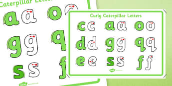 Curly Caterpillar Letters Formation Display Poster - letter formation, display poster, display, poster, letter, formation, curly caterpillar