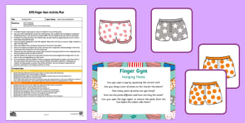 EYFS Hanging Pants Finger Gym Plan and Resource Pack - Aliens Love Underpants, Claire Freedman, space, fine motor control, pincer grip, muscle strength, ha