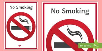 No Smoking Display Sign - Secondary Signs and Labels, smoking