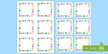Multicoloured Stars Editable Gratnell Peg Labels - Multicoloured Stars Editable Gratnell  Peg Labels - star, labels, stardesign tray labels editable, l