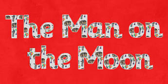 Man on the Moon Title Display Lettering - man on the moon, display, lettering, title