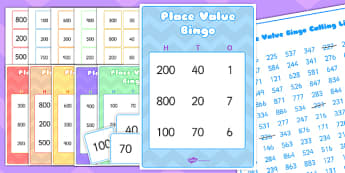 Place Value Bingo - value, ten, units, maths, games, numeracy, Place value, bingo, number, base 10, partitioning