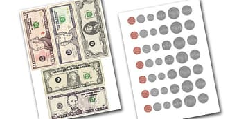 American Money Cut Outs - scholar dollars template. Money, dollars, cents, american money, USD, pretend money, money cut outs, money cut-outs, paper dollars, roleplay, role-play, role play