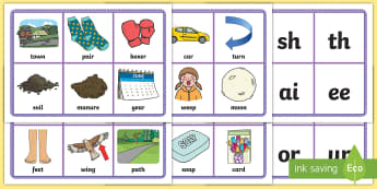 Middle East Phase 3 Grapheme Bingo - Literacy, Phonics, letters and sounds, UAE, Dubai, Abu Dhabi, sounds, KS1, Bahrain.