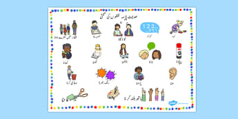 New EAL Starter Instructions Word Mat Urdu - urdu, literacy, words, mats