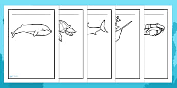 Under the Sea Writing Frames - under the sea, writing frames, sea, seaside, water, writing template, writing frame, word cards, flashcards, template, tide, fish, sea creatures, shark, whale, marine, dolphin, starfish, waves, sand