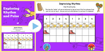 Rhythm and Pulse Lesson Teaching Flipchart - rhythm, pulse, teach