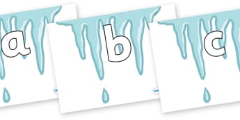 Phoneme Set on Icicles - Phoneme set, phonemes, phoneme, Letters and Sounds, DfES, display, Phase 1, Phase 2, Phase 3, Phase 5, Foundation, Literacy