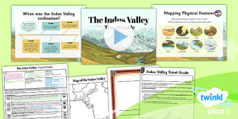 History: The Indus Valley: Travel Guide UKS2 Lesson Pack 1