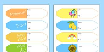 Etichete pentru sfârșit de an școlar - Recompense - Etichete pentru sfârșit de an școlar - sfârșit de an, sfarsit de scoala, tranzitie, tranziție, an scolar, speranțe, proiecte, romanian, materiale, materiale didactice, română, romana, material, mate