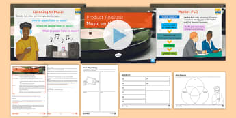 Product Analysis: Music on the Move Lesson Pack - KS3, Product Design, Product Analysis, Technology, retro, market pull, music