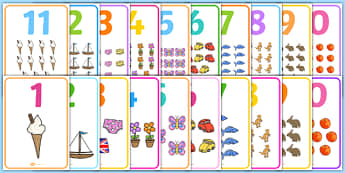 Number Picture Display Posters - number, picture, display posters, display, posters