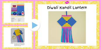 Diwali Kandil Lantern Craft Instructions PowerPoint - diwali, kandil, lantern, craft, instructions