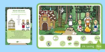 Hansel and Gretel Can You Find...? Poster and Prompt Card Pack - traditional stories, spot, i spy, story telling, retell, re-tell, woodland, forest, tracks, paths, g
