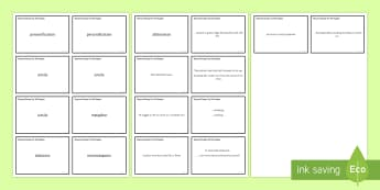 Poetic Devices Matching Cards to Support Teaching on 'Bayonet Charge' by Ted Hughes  - ted hughes, power, conflict, poetry, AQA, poetic devices, cards, bayonet charge, anthology