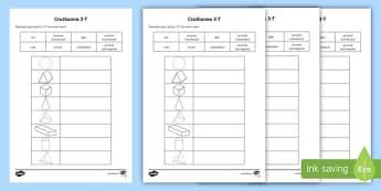 Bileog Oibre: Cruthanna 3-T - Gaeilge  - maths, mata, irish, gaeilge, 3d shapes, crut, cruthanna 3T,Irish