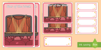 Star of the Week Chart - star of the week, A3 poster, poster, star of the week poster, classroom display, behaviour management, reward, award