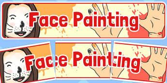 Face Painting Banner - face painting, face, painting, banner, fair, fayre