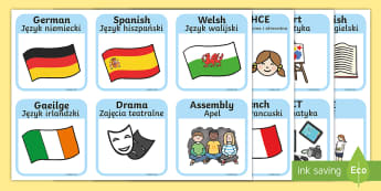 SEN Visual Timetable for School English/Polish - SEN Visual Timetable for School - sen visual timetable, school visual timetable, simple visual timet