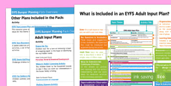 EYFS Toys Bumper Planning Pack Overview - Toys, eyfs, planning, plans, play