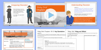 Moby Dick Chapter 10-21 Lesson Pack - Moby Dick, Herman Melville, Pre 1914,  Literature, novel, reading, KS3