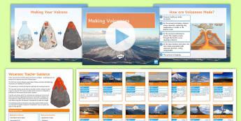 Making and Erupting Volcanoes Activity - volcanoes. eruptions, magma, lava, mount Vesuvius, magma chamber