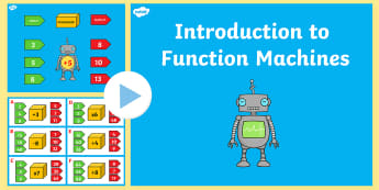 Year 6 Algebra Introduction to Function Machines PowerPoint