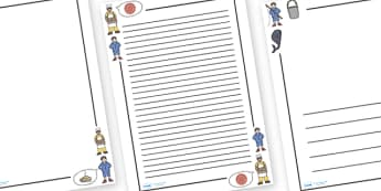 Simple Simon Page Borders - Simple Simon, page border, border, writing template, frame, nursery rhyme, rhyme, rhyming, nursery rhyme story, nursery rhymes, Simple Simon resources