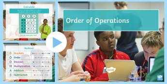 Order of Operations BODMAS BIDMAS PowerPoint - order, operations, bodmas, bidmas, teaching, pack,teach, BODMAS