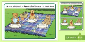 Teddy Bears Picnic Playdough Mats - Teddy Bear Playdough Mats - teddy bear, playdough mats, playdough, mats, playdugh, mats, teddy bear,